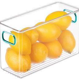 mDesign Deep Plastic Kitchen Pantry, Cabinet, Refrigerator, Freezer Food Storage Bin Container wi... | Amazon (US)