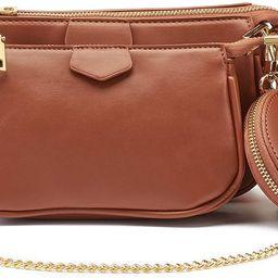 Small Crossbody Bags for Women Multipurpose Golden Zippy Handbags with Coin Purse including 3 Siz... | Amazon (US)