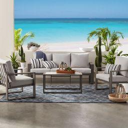Better Homes & Gardens Belle Haven 4-Piece Conversation Outdoor Furniture Set, Metal | Walmart (US)