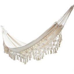 200*150cm 2 Person Hammock Boho Great Brazilian Macrame Luxury Comfortable Foldable Hammock Swing... | Walmart (US)