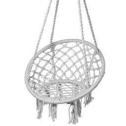 Hammock Chair Hanging Swing Chair Mesh Woven Macrame Swing Garden Indoor Outdoor Patio Home Decor... | Walmart (US)