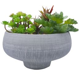 Admired By Nature Grey blue two toned ceramic bowl Plant Pots, Planters for Succulent and Little ... | Walmart (US)