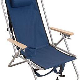 RIO BEACH Original Outdoor Steel Folding Backpack Chair, Navy Blue | Amazon (US)
