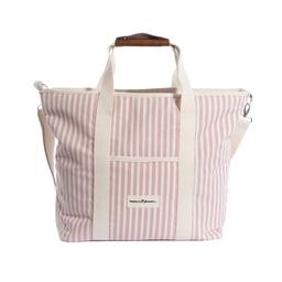 the cooler tote bag, pink stripe | minnow
