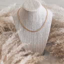 Curbed Chain Necklace | Stylin by Aylin