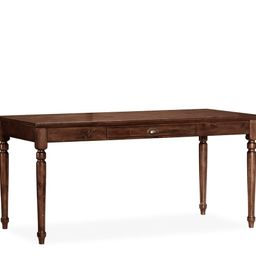 """Printer's 64"""" Writing Desk with Drawer, Tuscan Chestnut 