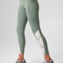 Meadow Green and Chintz High Rise Compression Legging | Tuckernuck (US)