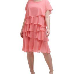 Plus Size Chiffon Tiered Dress | Macys (US)