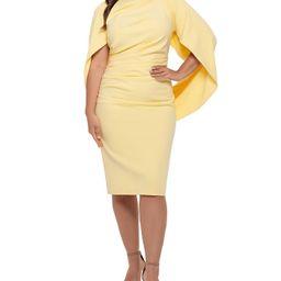 Plus Size Ruched Cape Dress | Macys (US)