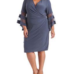 Plus Size Illusion Bell-Sleeve Dress | Macys (US)