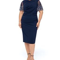 Plus Size Beaded-Sleeve Dress | Macys (US)