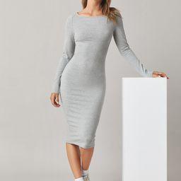 Einfarbiges figurbetontes Midi Kleid | SHEIN