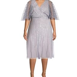 Plus Size Sequin Flutter-Sleeve Dress | Macys (US)