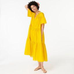 Tiered cotton voile beach dress | J.Crew US