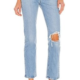 LEVI'S Wedgie Straight Ankle in Tango Fray from Revolve.com | Revolve Clothing (Global)