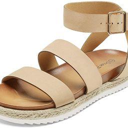 DREAM PAIRS Women's Open Toe Ankle Strap Espadrille Flatform Platform Wedge Sandals | Amazon (US)