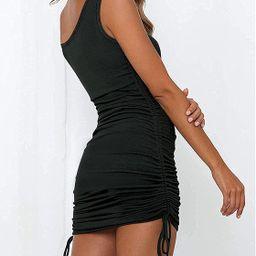 TTMILIATRAY Women's Ruched Dress one Shoulder Summer Tight Bodycon Side Drawstring Dress Sexy Min... | Amazon (US)