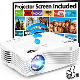 7500Lumens Upgraded Native 1080P Projector, Full HD WiFi Projector Synchronize Smartphone Screen,...   Amazon (US)