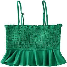 CUPSHE Women's Bikini Top Ruffle Smock Bathing Suit | Amazon (US)