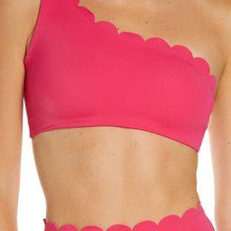 Scallop One-Shoulder Bikini Top   Nordstrom