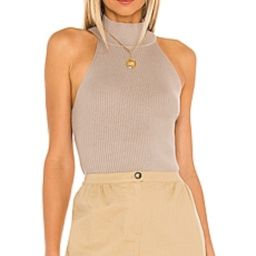 Line & Dot Danielle Rib Knit Top in Natural from Revolve.com | Revolve Clothing (Global)