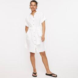 Relaxed-fit short-sleeve Baird McNutt Irish linen shirtdress | J.Crew US