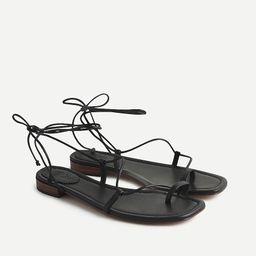 Abbie ankle-wrap sandals | J.Crew US