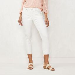 Women's LC Lauren Conrad The Skinny Crop Jeans, Size: 16, White   Kohl's