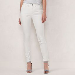 Women's LC Lauren Conrad High-Waisted Skinny Ankle Jeans, Size: 6, White   Kohl's