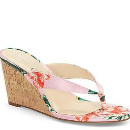 Jessica Simpson Coyrie Wedge Sandal - Women's - Pink/Multicolor Floral Print Faux Leather   DSW
