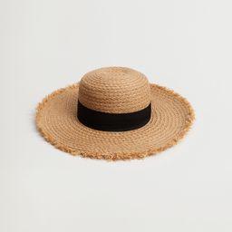 Ribbon straw hat | MANGO (US)