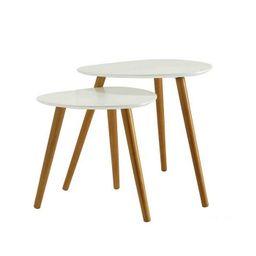 Cora Modern Contemporary Triangle Nesting Tables, Set of 2 | Macys (US)