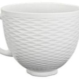 White Chocolate 5 Quart Textured Ceramic Bowl KSM2CB5TLW   KitchenAid   KitchenAid