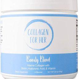 Marine Collagen Beauty Blend - Hydrolyzed Marine Collagen, Hyaluronic Acid, Biotin, Vitamin-C for... | Amazon (US)