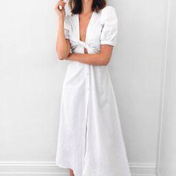 Cut Out V Neck Button Maxi Dress | NastyGal