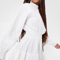 Poplin Shirred Waist Smock Mini Dress | NastyGal