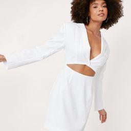 Cut-Out Shoulder Pad Blazer Dress | NastyGal