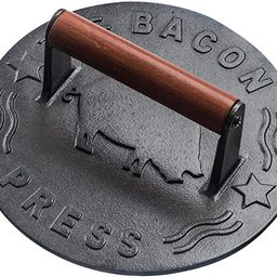 Bellemain Cast Iron Grill Press, Heavy-duty bacon press with Wood Handle, 8.5-Inch Round   Amazon (US)