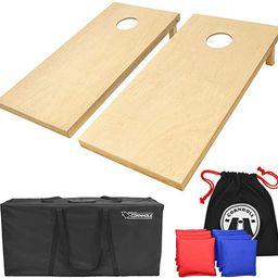 GoSports Solid Wood Premium Cornhole Set - Choose Between 4feet x 2feet or 3feet x 2feet Game Boa...   Amazon (US)