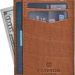 Minimalist Wallets for Men & Women RFID Front Pocket Leather Card Holder Wallet   Amazon (US)