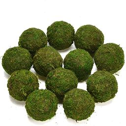 "Byher Natural Green Moss Decorative Ball,Handmade (3.5""-Set of 6) | Amazon (US)"