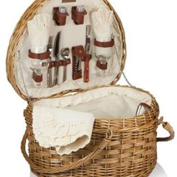 Picnic Time 'Heart' Willow Picnic Basket with Deluxe Service for Two   Amazon (US)