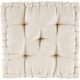 Intelligent Design Azza Floor Pillow Square Pouf Chenille Tufted with Scalloped Edge Design Hypoa...   Amazon (US)