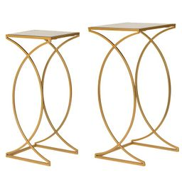Metal with Glass Gold-Tone Accent Table, Set of 2 | Macys (US)