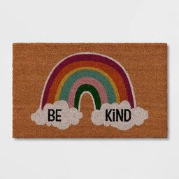 "1'6""x2'6"" 'Be Kind' Doormat Natural - Sun Squad™ | Target"