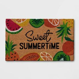"1'6""x2'6"" 'Sweet Summertime' Fruit Doormat Natural - Sun Squad™ | Target"