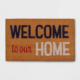 """1'6""""x2'6"""" 'Welcome To Our Home' Doormat - Sun Squad™ 