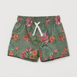 Patterned Swim Shorts   H&M (US)