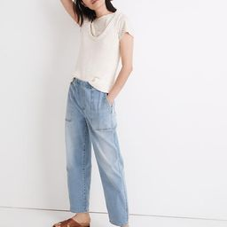 Pull-On Relaxed Jeans in Bellview Wash | Madewell
