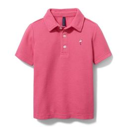 Embroidered Pique Polo   Janie and Jack